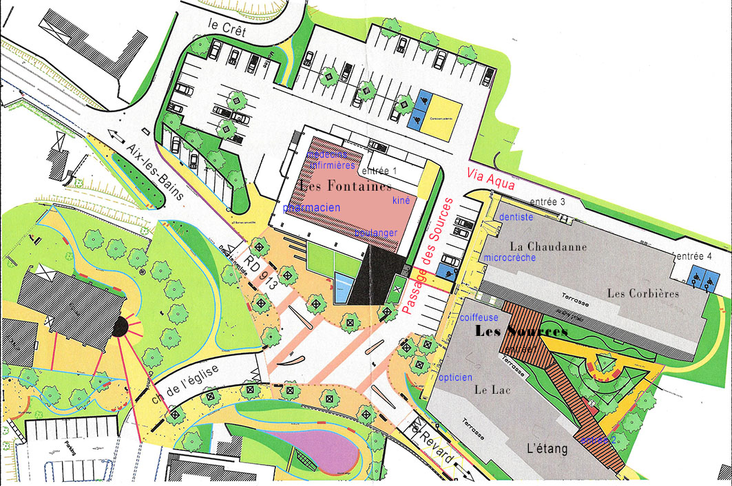 plan du centre bourg